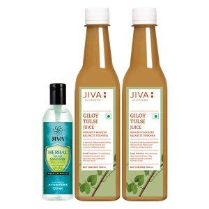 Jiva Store - Giloy Tulsi Juice/Herbal Hand Sanitizer