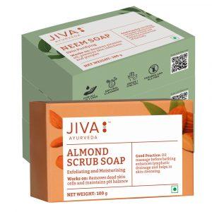 Jiva Store - Almond Scrub Soap and Neem Bathing Bar